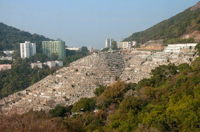 Гонконг. Террасное кладбище Пок Фу Лам