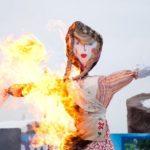 Сжигание чучела на Масленицу в Перми 2017