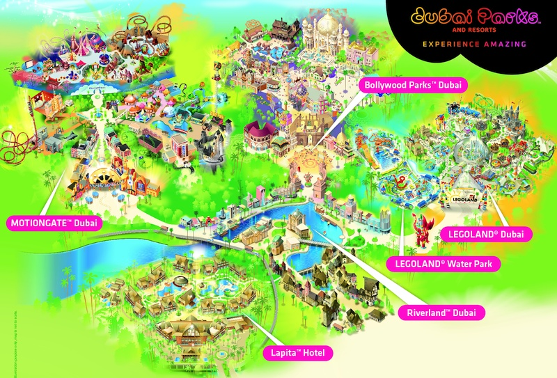 DUBAI PARKS AND RESORTS - карта парков