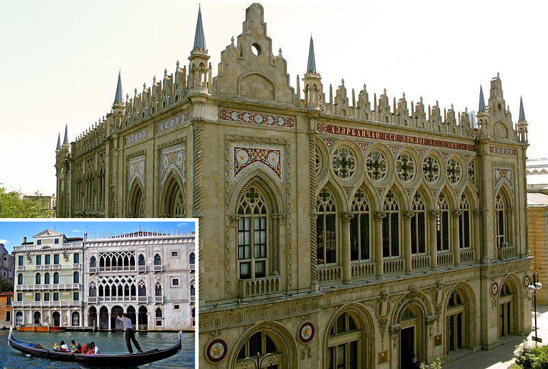 Дворец Исмаилия в Баку vs палаццо CAVO D`ORO в Венеции