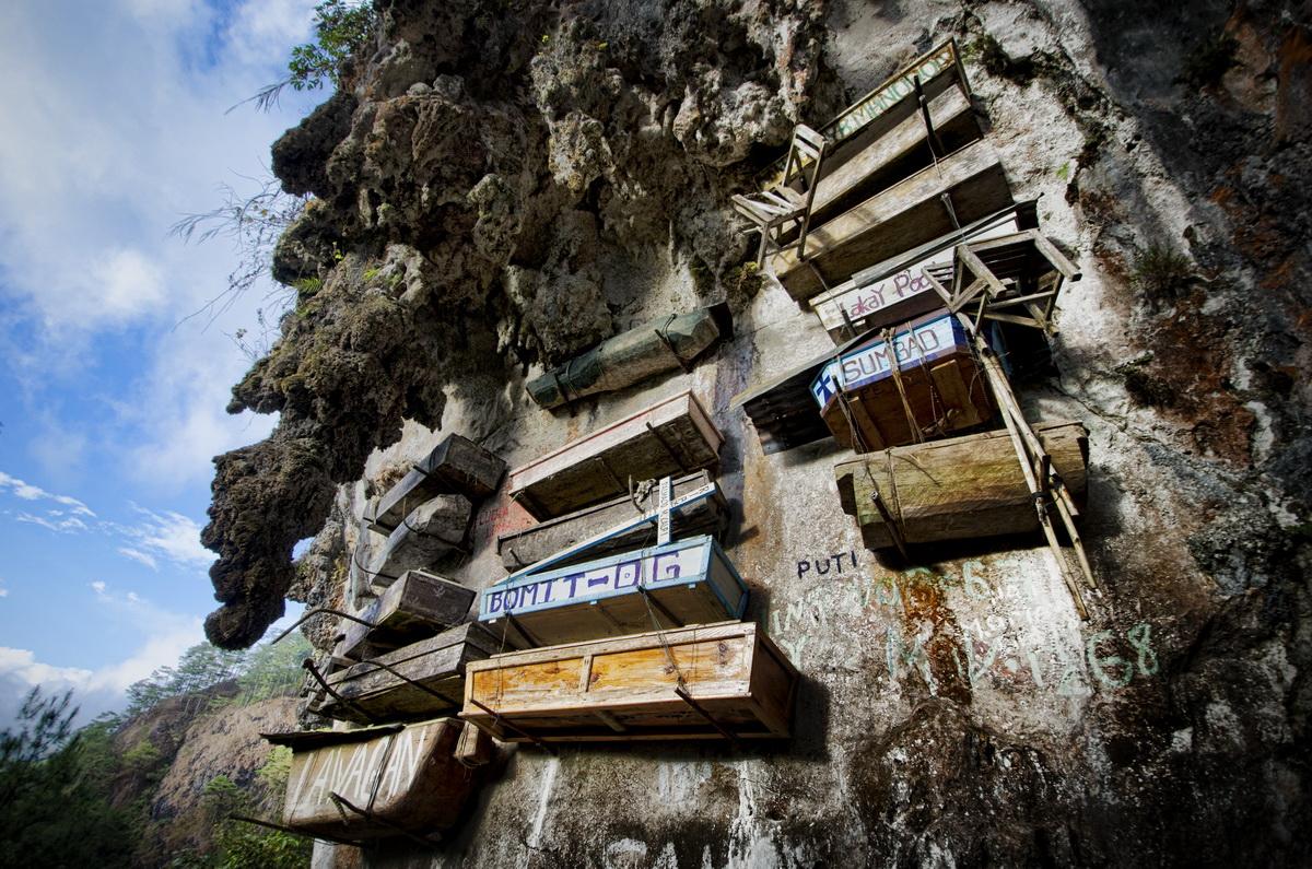 Таинственные висячие гробы Сагада, Филиппины