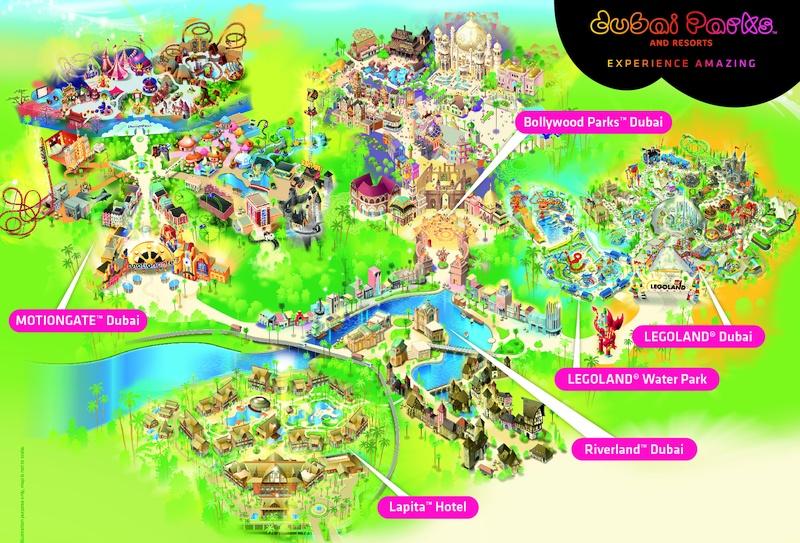 DUBAI PARKS AND RESORTS - карта парков
