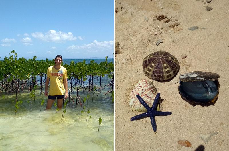 На пляже Bounty Beach на острове Малапаскуа